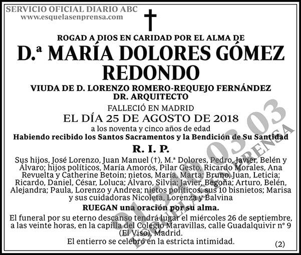 María Dolores Gómez Redondo